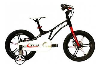 """Велосипед детский ARDIS BMX MG """"PILOT"""" 16"""" колеса на литых дисках и магниевой раме, черный"""