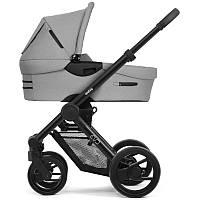 Классическая коляска люлька Mutsy Evo Bold Pebble Grey, Black (black wheels)