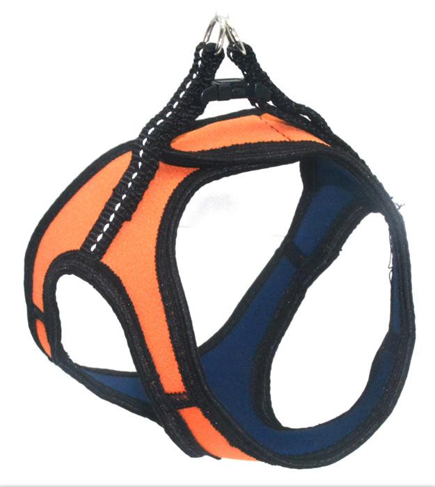 Шлея для животных Фитнес №1 неопреновая оранжевая
