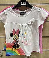 Футболка для девочек Disney, 98/104-134 рр . Артикул: 02029