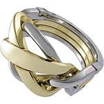 Huzzle Ring 4* Металлическая головоломка Перстень Hanayama (Japan), фото 3