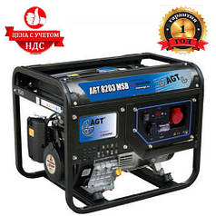 Бензиновый генератор сварочный AGT WAGT 220 DC BSB R26 (6.5 кВТ. 380В)