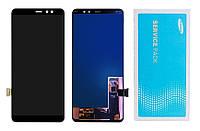 Дисплей + сенсор Samsung A530 (A8 2018) чёрный Оригинал 100% SERVICE PACK GH97-21406A