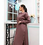Платье женское батал с разрезами по бокам цвет-пудра, фото 2
