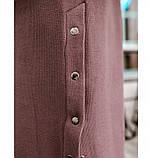 Платье женское батал с разрезами по бокам цвет-пудра, фото 4