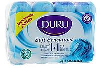 """Мыло Duru Soft Sensations в экономичной упаковке """"Морские минералы"""" 4x90г"""