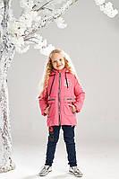 Демисезонная куртка на девочку ANSK 116 коралловая 7335000D, фото 1