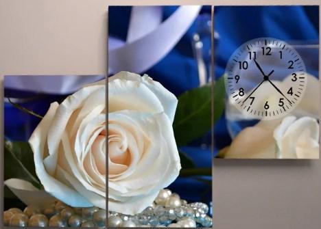 Настенные часы 90х60 Белые розы