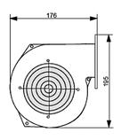 Нагнітальний вентилятор KG Elektronik DPA-120 (Польща), фото 5