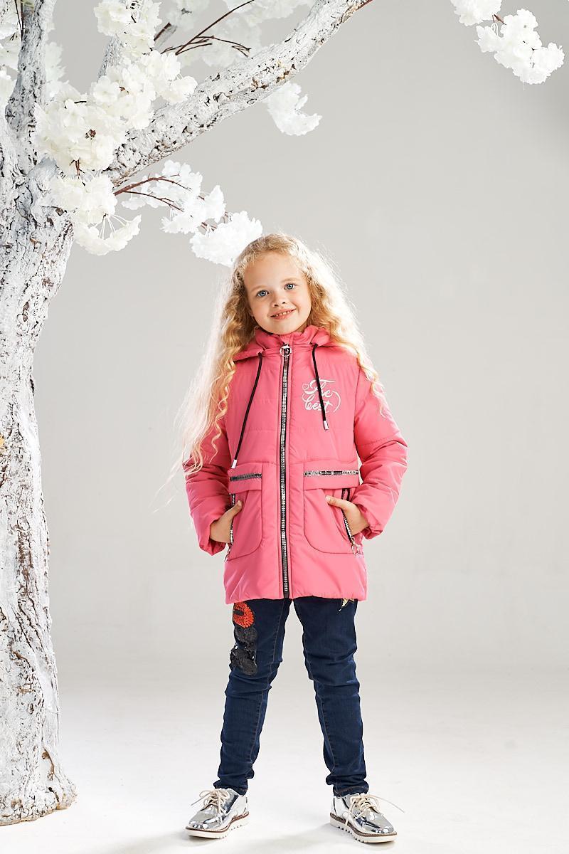 Демисезонная куртка на девочку ANSK 122 коралловая 7335000D