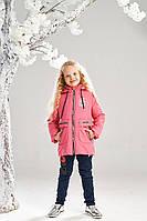 Демисезонная куртка на девочку ANSK 122 коралловая 7335000D, фото 1