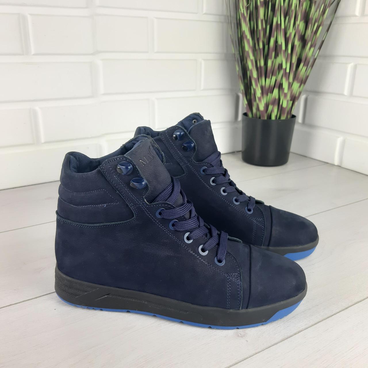 Мужские ботинки зимние из натуральной замши, внутри натуральная шерсть. Чоловіче взуття