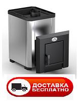 Печка для бани Классик Новаслав 12 м3, кожух нержавейка, вынос