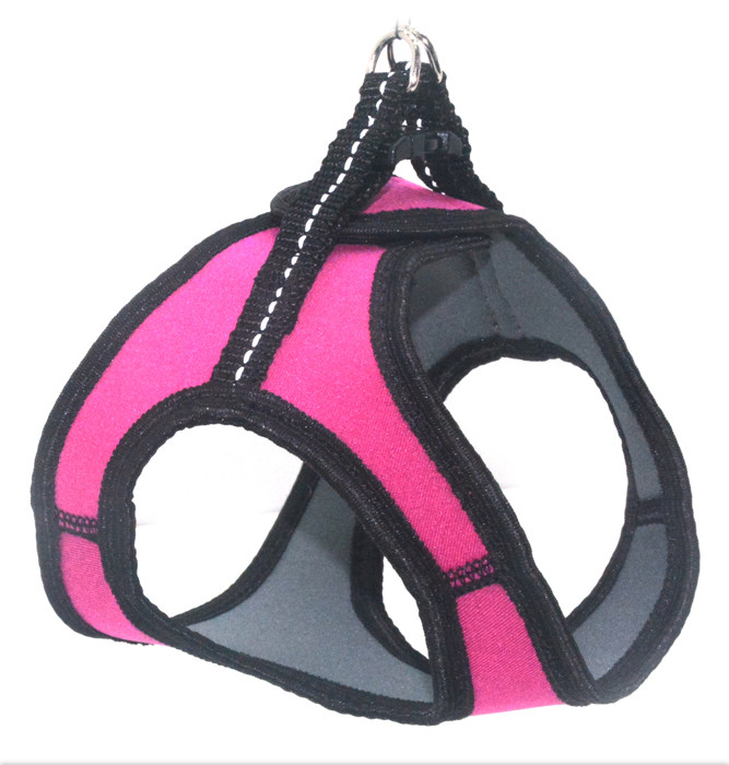 Шлея для животных Фитнес №1 неопреновая розовая