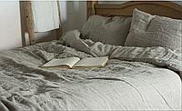 Льняное постельное бельё семейное