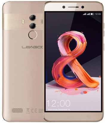 "Смартфон Leagoo T8 2/16Gb Gold, 13+2/5Мп, 2sim, 8 ядра, 5.5"" IPS, GPS, 3080mAh, 4G"