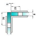 HDL-725 СТЕКЛОДЕРЖАТЕЛЬ СТЕКЛО-СТЕКЛО 90 ГРАДУСОВ PSS (НЕРЖАВЕЙКА ПОЛИРОВАННАЯ), фото 2