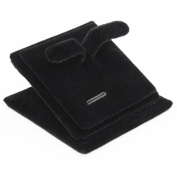 Подставка бархатная черная под кольца, сережки и комплект