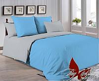 ✅  Двуспальный комплект однотонного постельного белья (Поплин) TAG P-4225(4101)