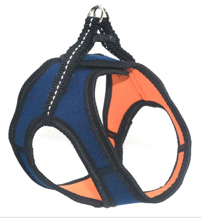 Шлея для животных Фитнес №1 неопреновая синяя