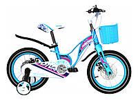 """Велосипед детский Ardis BMX MG """"DIVA"""" 14"""" колеса на литых дисках и магниевой раме, голубой"""