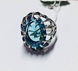 Колечко в сріблі з блакитним фианитом Жозефіна, фото 2