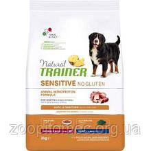 Корм Trainer (Трейнер) Dog Sensitive Adult Lamb Rice Oil для собак середніх та великих порід ягня з рисом, 12 кг