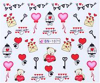 Слайдер дизайна для ногтей водный BN-1071