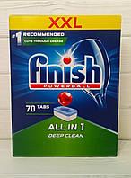 Таблетки для посудомоечной машины Finish Powerball All in1 Deep Clean 70шт. (Польша)