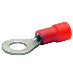 Наконечник кольцевой 0,25-1,5 мм2 болт 2,5 медный луженый с изоляцией BM00101 (уп. 100 шт.)