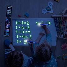 Набор для творчества Рисуй светом А2 (59х39 см) односторонний коврик ТМ Люмик, фото 3