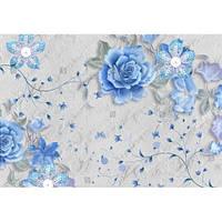 Фотообои 3D голубые цветы