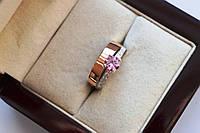 Серебряное кольцо с золотыми пластинами Мирабель