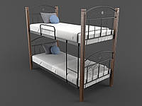 Кровать двухъярусная металлическая Элизабет подростковая детская