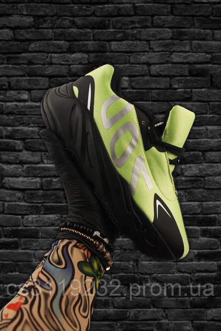 Мужские кроссовки Adidas Yeezy Boost 700 Green Black (черно-зеленые)