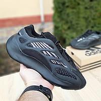 Adidas Yeezy 700 V3 черные с серым кроссовки мужские