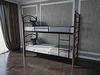 Кровать металлическая двухъярусная подростковая  Патриция Вуд