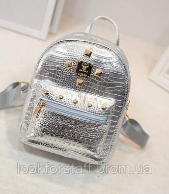 Рюкзак серебристый