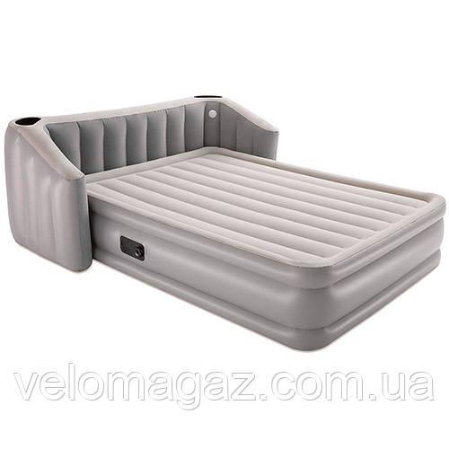 Велюровая кровать-матрас BESTWAY 67620 с встроенным эл.насосом,196*233*80 см