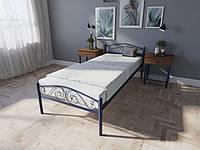 Односпальная металлическая кровать Элис Люкс Melbi. Ліжко односпальне металеве