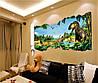 Объемная интерьерная виниловая 3D наклейка на стены  Динозавры наліпка, фото 3