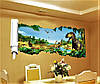 Объемная интерьерная виниловая 3D наклейка на стены  Динозавры наліпка, фото 4