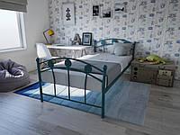 Кровать односпальная металлическая детская подростковая для мальчика Чемпион Melbi. Ліжко односпальне металеве