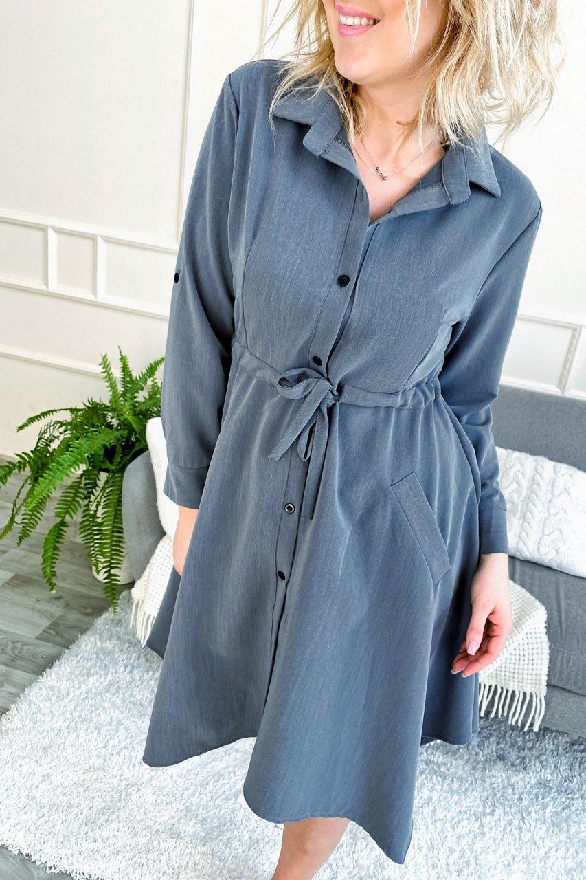Платье рубашка с ассиметричным низом и завязкой на талии.Разные цвета
