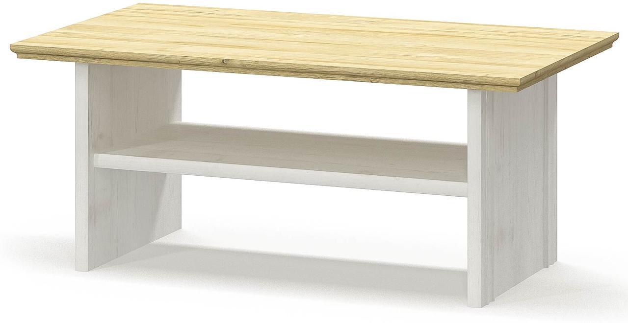 Стол журнальный Ирис Андерсон пайн + Дуб золотой Мебель Сервис (120х66х51 см)