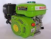 Двигатель на мотоблок бензиновый BIZON GX-220 170C 7.5 л.с. вал 20 мм шпонка (зеленый)
