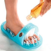 Щётка-массажёр Easy Feet для ног Голубой шлепанцы, фото 3