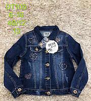 Джинсовая курточка для девочек S&D оптом , 6-16 лет.