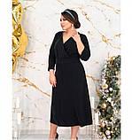 Платье женское без карманов и застёжек черное, фото 4