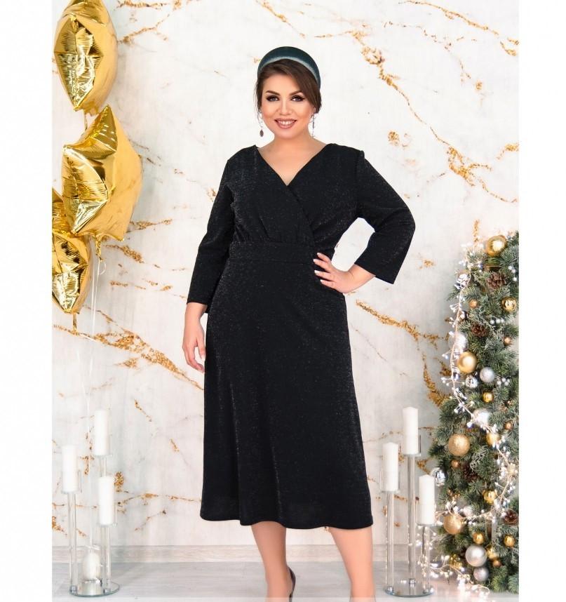Платье женское без карманов и застёжек черное